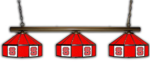 - Imperial NC State Pub Light w/Wolfpack Logo - 3 Shade Stained Glass