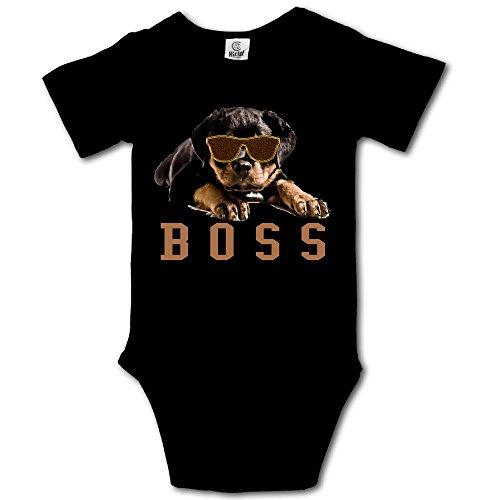 HUDS VIFV Rottweiler Boss Dog Baby Unisex Short Sleeve Onesies Bodysuits