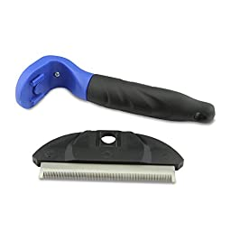 Pet Grooming Tool & Pet Grooming Brush Deshedding Tool For Medium & Large Dogs Cats With Short to Long Hair. Dramatically Reduces Shedding In Minutes