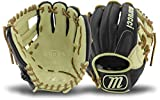 Marucci MFGRS11I-BK/MS-LH RS225 Series Baseball Fielding Gloves, Black/Mesa, 11''