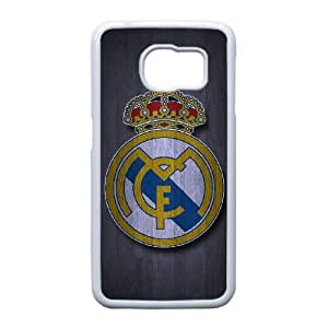 Samsung Galaxy S6 Edge Cell Phone Case Phone Case White Real Madrid F5964603