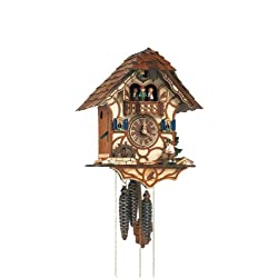 Schneider Black Forest 13 Inch Musical Wood Chopper with White Shirt Cuckoo Clock