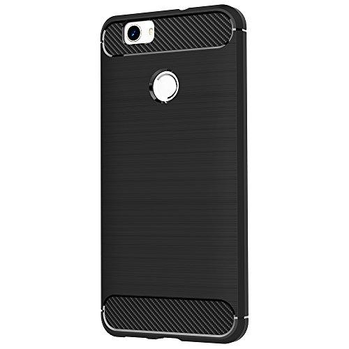 Funda Huawei Nova, AICEK Negro Silicona Fundas para Huawei Nova Carcasa Huawei Nova Fibra de Carbono Funda Case (5,0 Pulgadas) Negro