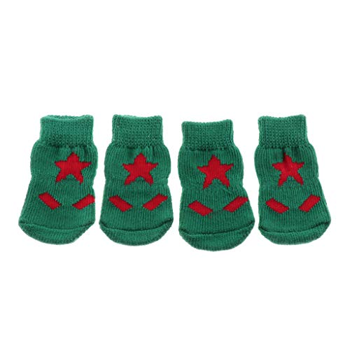 Chaussures Antidérapantes Familiers De Chien Pour 4pièces Animaux Étoiles Chat Chaussettes Flameer YnxSPfw