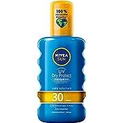NIVEA SUN UV Dry Protect Sport Sonnenspray LSF 30 (200 ml), 100% transparenter Sonnenschutz, schweißresistente & extra…