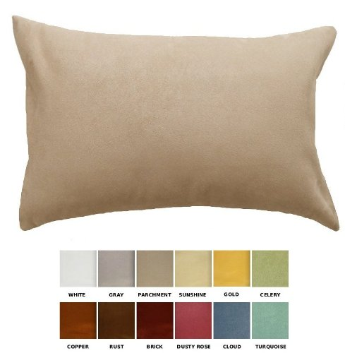 DreamHome - Solid Faux Suede Decorative Pillow Cover/Sham - 12