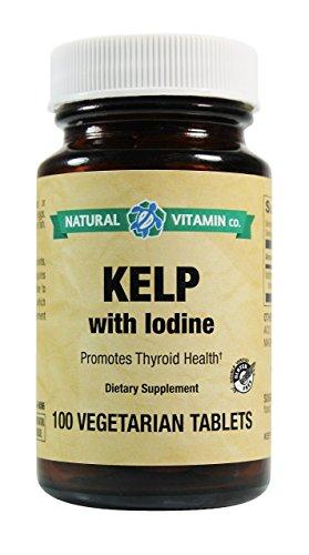 Natural Vitamin Co. Kelp with Iodine 225mcg, Gluten Free Vegetarian Vegan Tablets (100)