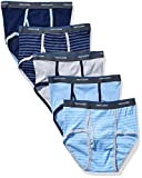 Fruit Of The Loom Boys' Fashion Brief (Pack of 5), Stripes and Solids, Small