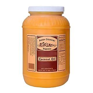 Amish Country Popcorn | Coconut Oil - 1 Gallon | Old Fashioned with Recipe Guide (1 Gallon)
