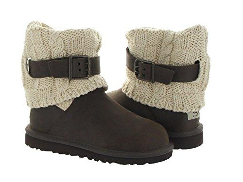 UGG Australia Girl's Cambridge Leather Chocolate Leather Boot 13 M US by UGG (Image #1)