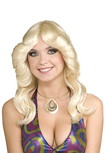 Charlie's Angels 1970s Costumes (70s Disco Doll Wig Costume Accessory)