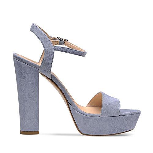 Daim Evita Femme Clair Bleu Stefania 41 Shoes Sandales qI14a