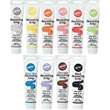 Wilton Set of 10 Ready-To-Use Icing Tube Colors (4.25 oz.Tubes)