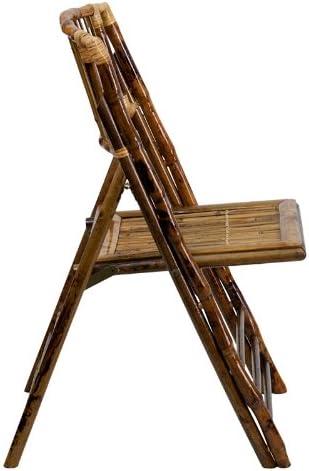 Flash Furniture American Champion Bamboo Folding Chairs-Set of 2