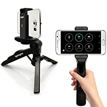 iGadgitz 2 in 1 Pistol Grip Mini Lightweight Table Top Tripod + Phone Mount for Samsung Galaxy S8 S8 Plus, S7 S6, S6 S7 Edge, C9 J7 Pro, J7 Max J7 J5 J2 Prime, J7 J5 J3 A7 A5 A3, Note 8 5 4