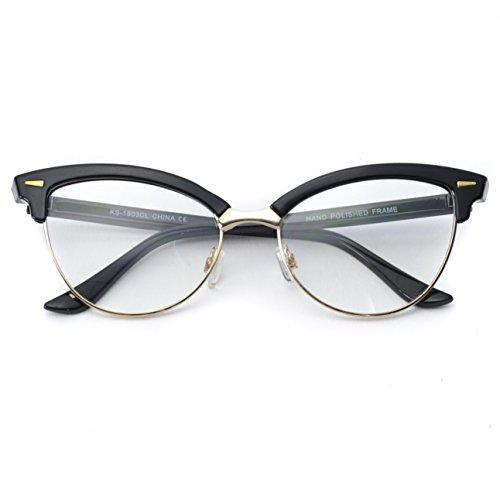 WearMe Pro - New Semi-Rimless Retro Cat Eye Fake Glasses