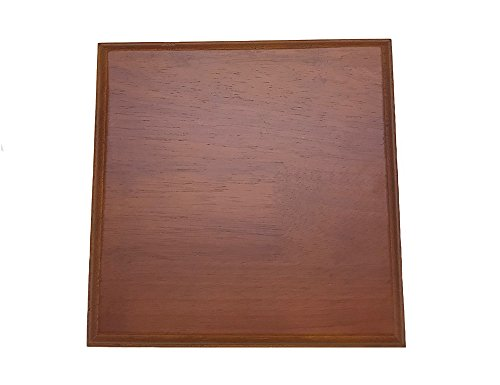 Wooden Base Display Walnut Finish - Solid Wood Plaque (9
