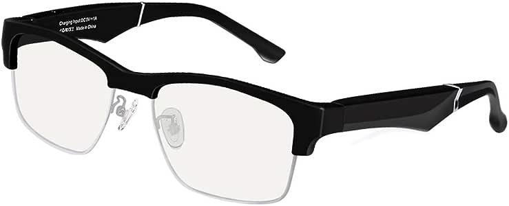 Joick Men Women Bluetooth Wireless Smart Glasses Unisex Stereo Music Headphones Sunglasses,Anti-Blue,Black Silver