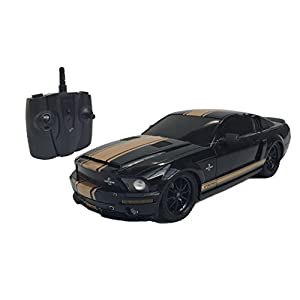 1:18 Licensed Shelby Mustang GT500 Super Snake Electric RTR Remote Control RC Car (Black) - 41iz 2B0kJLJL - 1:18 Licensed Shelby Mustang GT500 Super Snake Electric RTR Remote Control RC Car (Black)