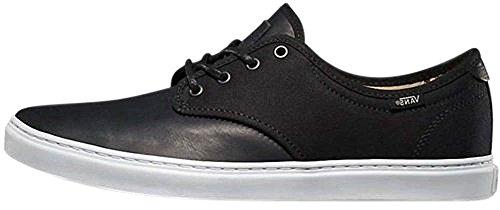 Vans Mens Ludlow Låga Topp Snörning Mode Sneakers (fiskben) Svart / Vit