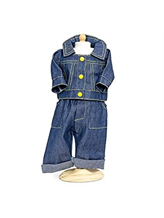 f3b11ec99602 Boy Dolls Clothes - Blue Jeans and Denim Top. Sizes to Fit 16 inch ...