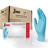 1st Choice Blue Nitrile 3 Mil Thick Disposable Gloves, Case of 1000 - Industrial Grade, Latex-Free