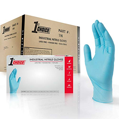 1st Choice Blue Nitrile 3 Mil Thick Disposable Gloves, Medium, Case of 1000 - Industrial Grade, Latex-Free by 1ST CHOICE (Image #9)