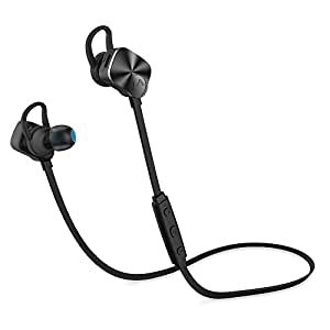 Mpow Bluetooth 4.1 Wireless Sports Headphones In-ear Running Jogging Stereo Earbuds Headsets with 8-Hour Mic Talking Time for iPhone 6s etc-Black