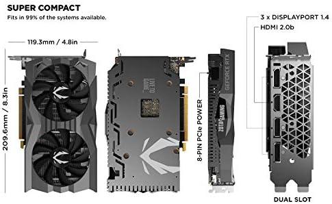 Zotac Gaming GeForce RTX 2060 - Tarjeta gráfica (6 GB, GDDR6, 192 ...