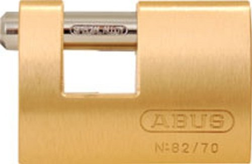 Monoblock Padlock - ABUS 82/70 Monoblock Solid Brass Padlock Keyed Different