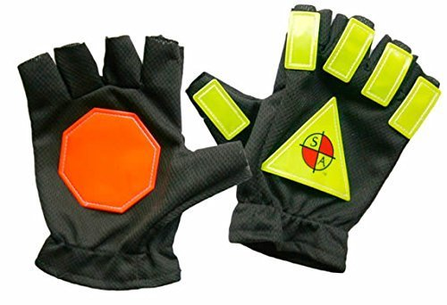 Safety Apparel Traffic Control Gloves, Large