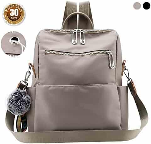e32c7fdaaf70 Women Backpack Purse Waterproof Nylon Anti-theft Rucksack Lightweight  School Shoulder Bag Girls Ladies Travel