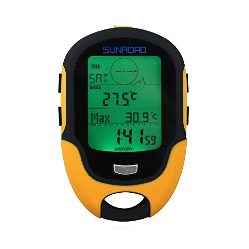 LifetSmart Sunroad FR500 Multifunction LCD Digital Altimeter Barometer Compass Thermometer Hygrometer Weather Forecast LED Torch Waterproof