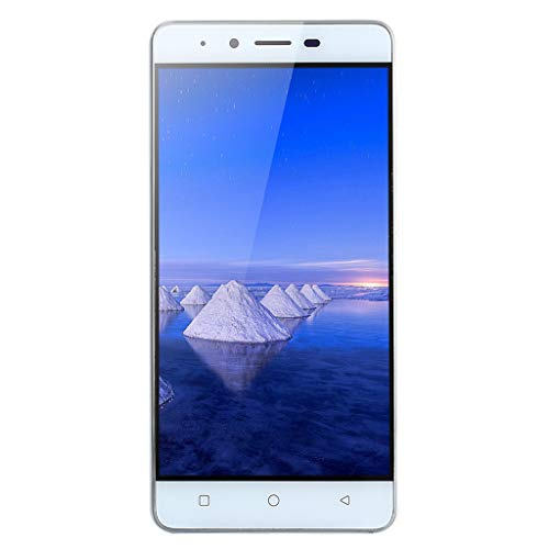 Ultrathin 5.0Inch Android 5.1 Unlocked Cell Phone,Quad-Core Dual SIM 512MB+4GB GSM 3G WiFi Camera Smart Cellphone (White)
