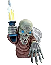 Crypt Keeper Statue,Tales from The Crypt Crypt Keeper- Guardian of Hell with a Candlestick, Resin Figures Sculpture for Home Bookshelf Desktop LED Decor Lights