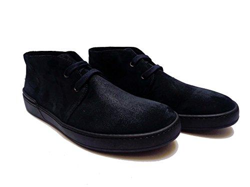 Frau 20D5 scarpe casual da uomo in camoscio Blu con fodera termo-regolante, num. 40