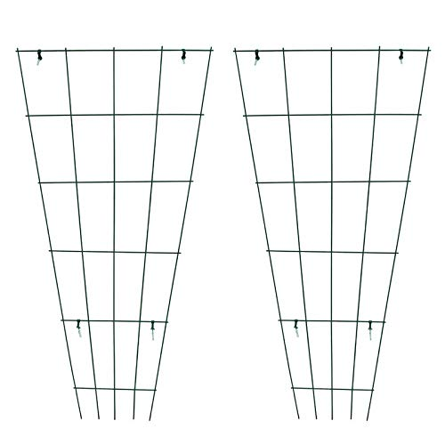 MTB Green PVC Pot Trellis 59 Inch x 31.5 Inch Metal Plant Stakes for Climbing Plants Pack of 2, Plant Support