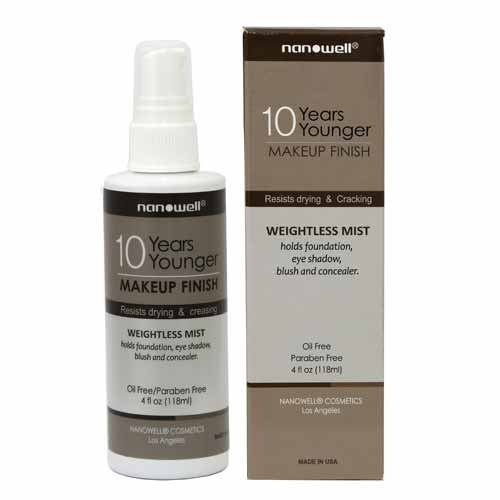 nanowell Makeup Finish Spray, 10 Years Younger, 4 Fluid Ounce | Weightless Mist