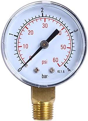 Queenwind TS-50-4 実用的なプールの Spa フィルター水圧計 Queenwind 0-60 PSI 0-4 棒側面の台紙1/4 インチの管糸 NPT TS-50