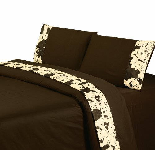 HiEnd Accents Cowhide Western Sheet Set, King, ()