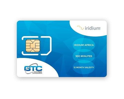 Iridium Satellite Phone Africa Prepaid SIM Card with 300 Minutes (12 Month Validity)
