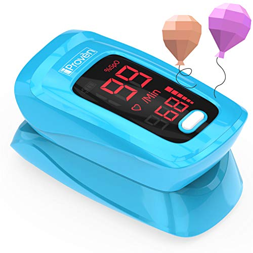([New Version] iProvèn Pulse Oximeter Fingertip - Oxygen Saturation Monitor - with Heart Rate Detection - incl. Batteries, Case and Lanyard - iProven OXI-27)