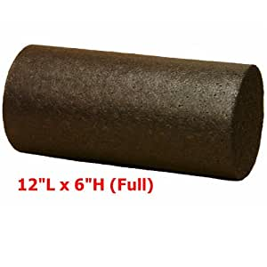 Workoutz 12 x 6 Inch Black High Density Foam Roller