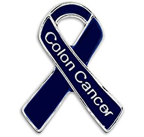 Amazon Com 25 Pack Colon Cancer Dark Blue Awareness Ribbon Pins Reads Colon Cancer 25 Pins Arts Crafts Sewing