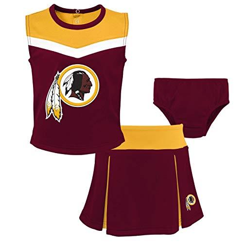 Outerstuff Washington Redskins NFL Toddler Girls Spirit Cheer Cheerleader 2 Piece Set