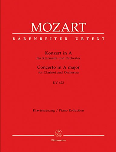 Sheet Music Concerto Clarinet - Mozart: Clarinet Concerto in A Major, K. 622