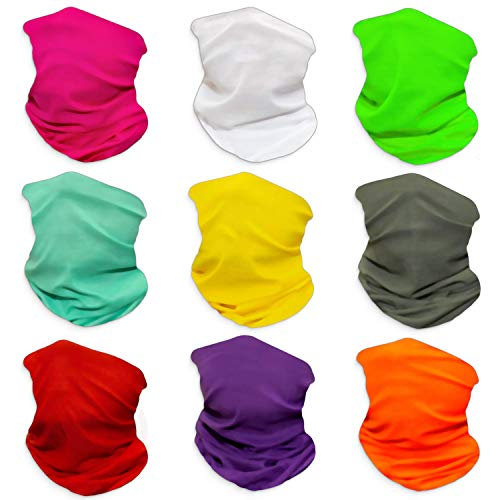 Gorecio Face Scarf Headband Bandana Mask - Solid Color Headwear Multi Use Neck Gaiter Headwrap Balaclava Helmet Liner Dust Head Wrap Sport Sweatband Shield for Face Ski Men Cold Snowboard (Solid)