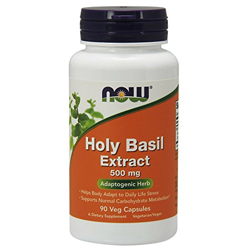 NOW Holy Basil Extract 500 mg,90 Veg Capsules