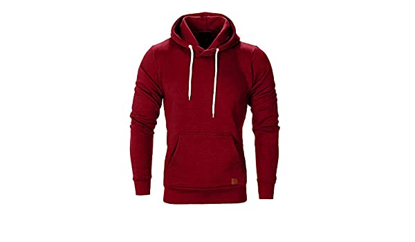 358cff19 Amazon.com: Dressin Big Mens Solid Casual Hoodie Autumn Winter Top  Tracksuit with Pocket: Musical Instruments