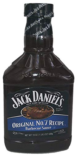 Jack Daniel's Barbecue Sauce, Original No. 7 Recipe 19oz - 1 19-ounce Bottle (Pack of 1) ()